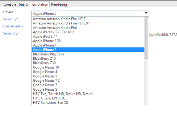 App Inspector Devices