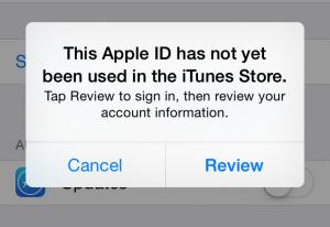 Apple ID Error