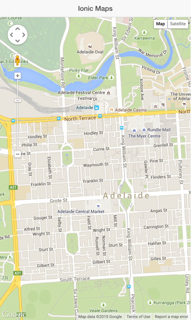 Ionic Google Maps Example