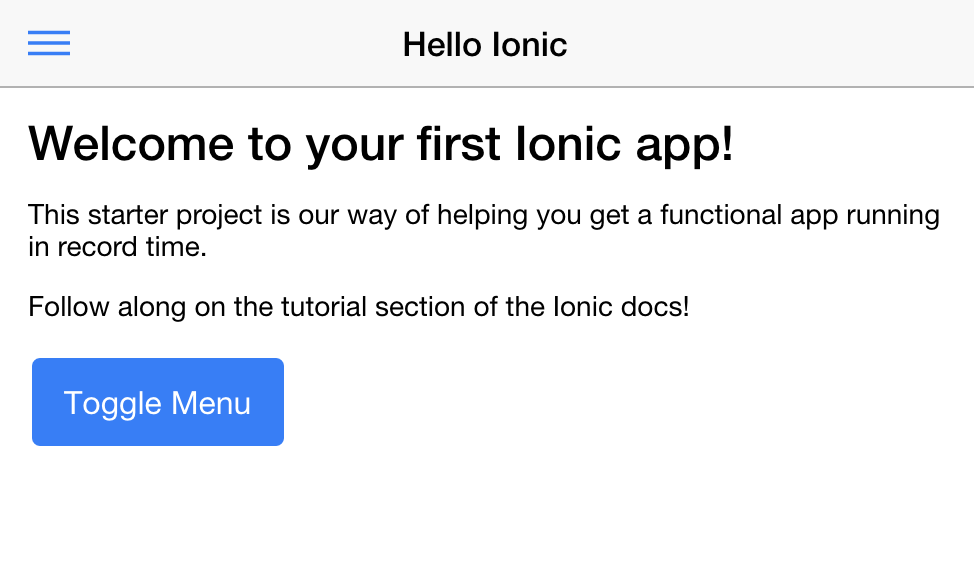 Ionic 2 Screenshot