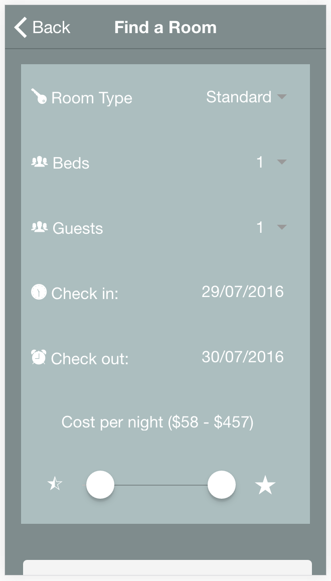 Ionic 2 Hotel Booking App