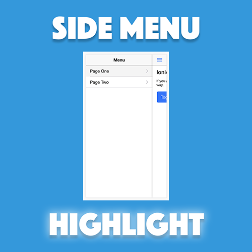 Create a Menu with Active Page Highlight in Ionic 2