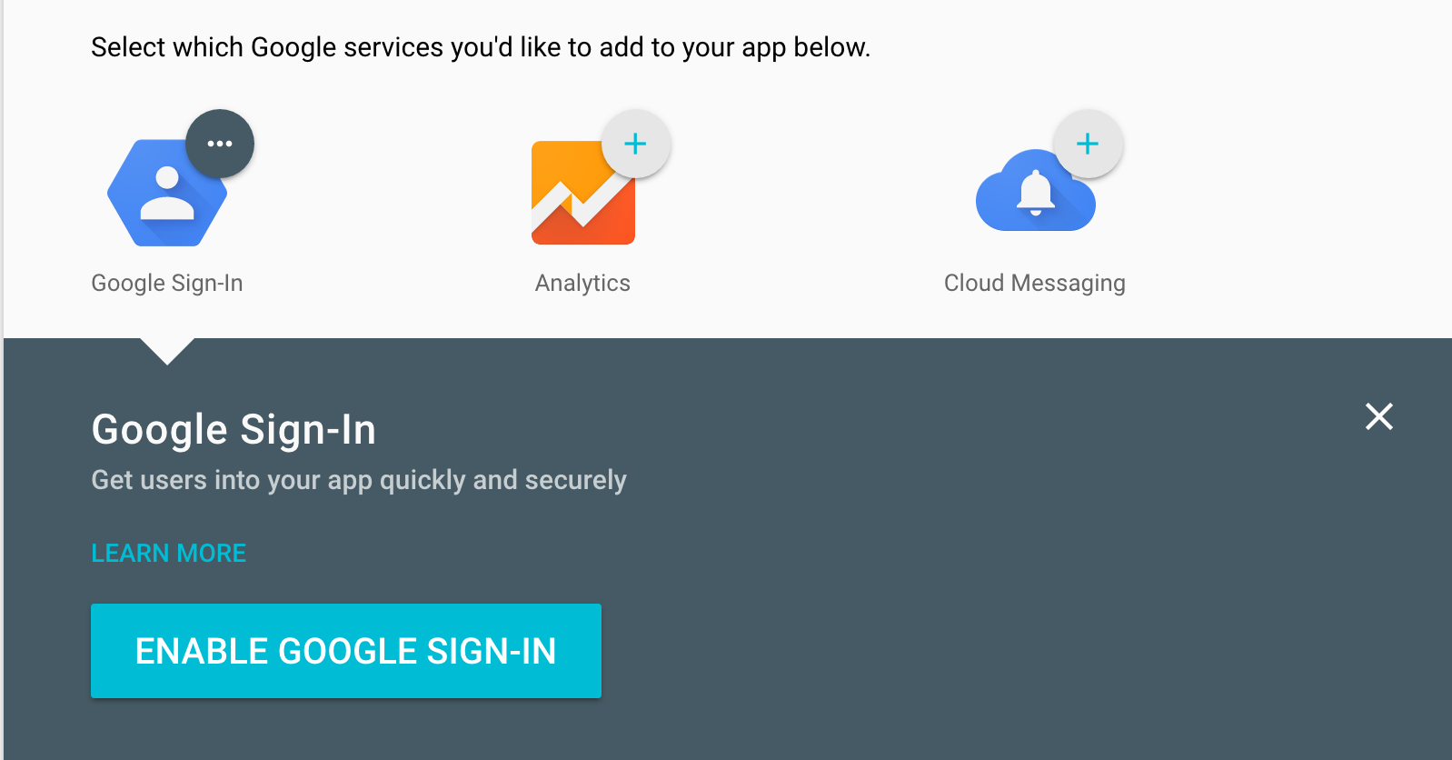 Enable Google Sign-In