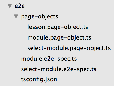 Page Object Structure Example