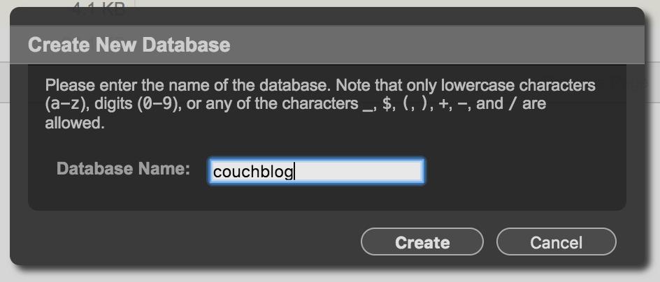 Create CouchDB Database