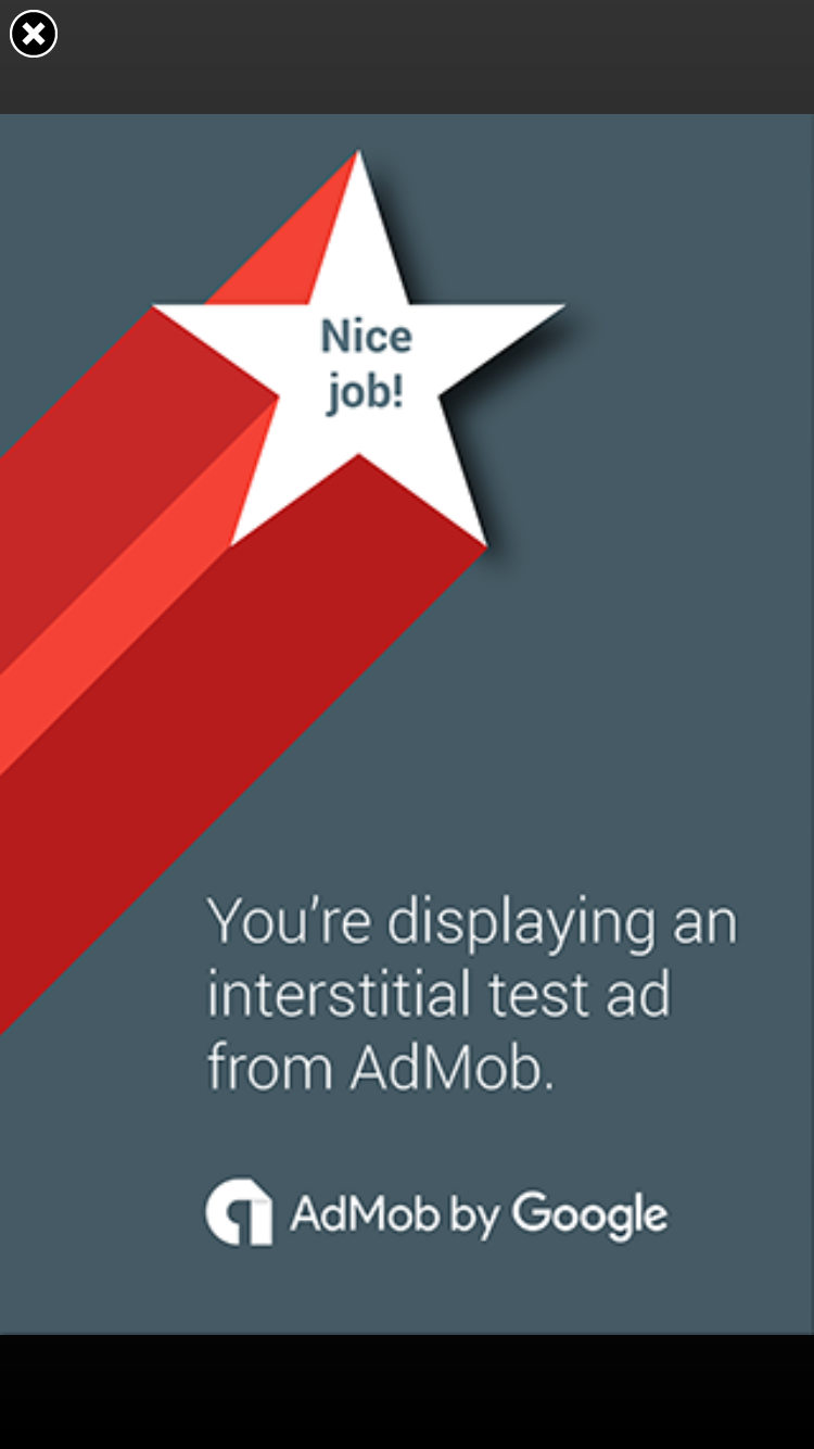 AdMob Interstitial