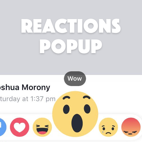 Creating a Facebook Style Reaction Button in Ionic | joshmorony