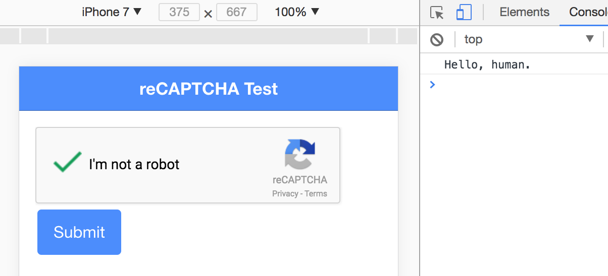 Adding CAPTCHA to Ionic with NodeJS Middleware | joshmorony - Learn