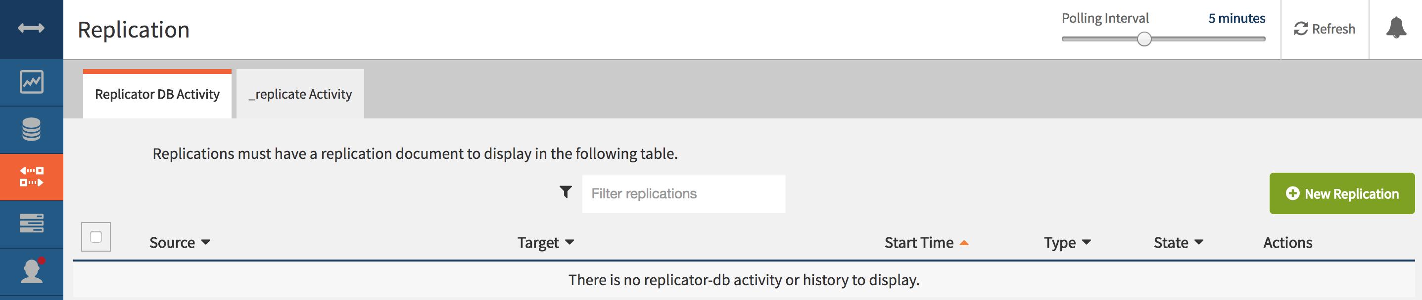 Cloudant Replication Tab