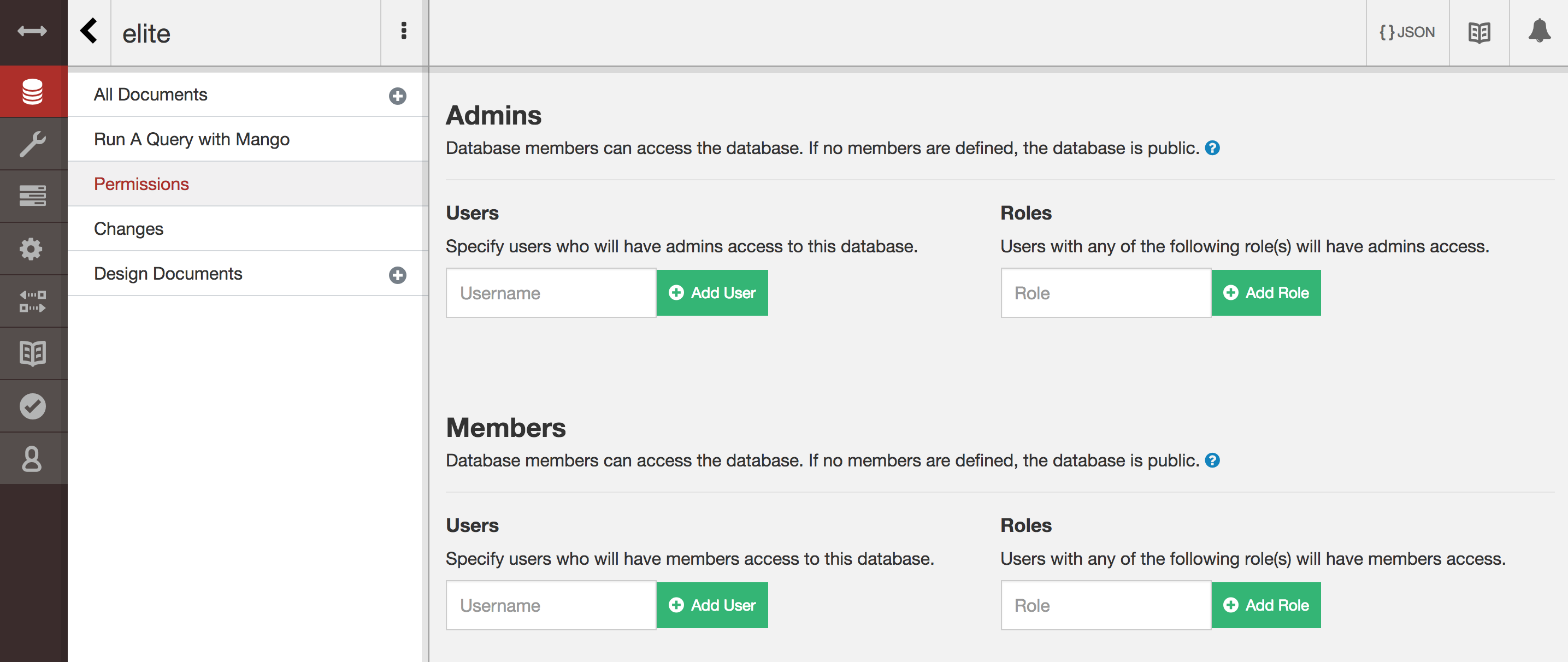 CouchDB Database Permissions