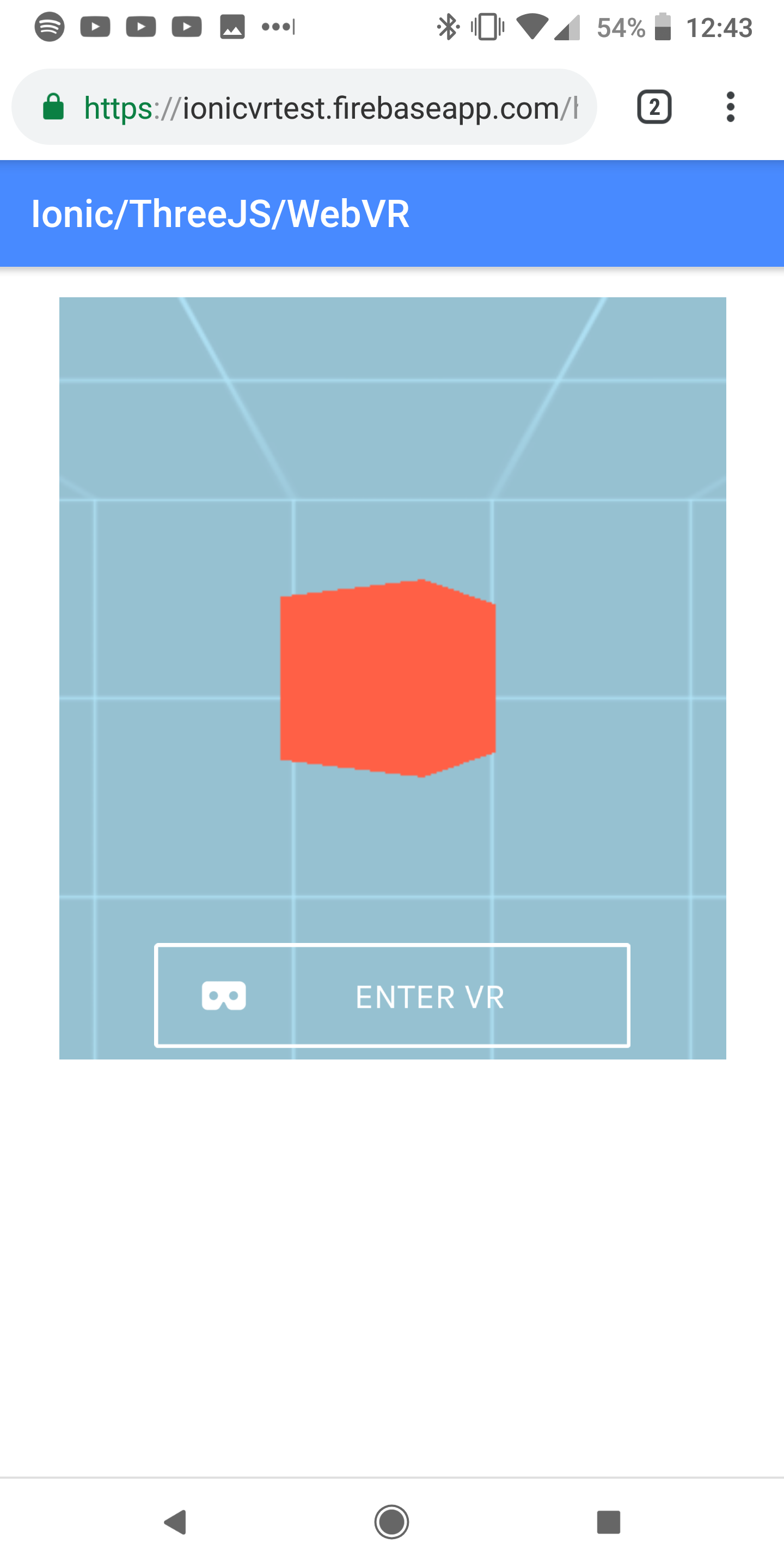 Creating a WebVR Experience in an Ionic/Angular Application