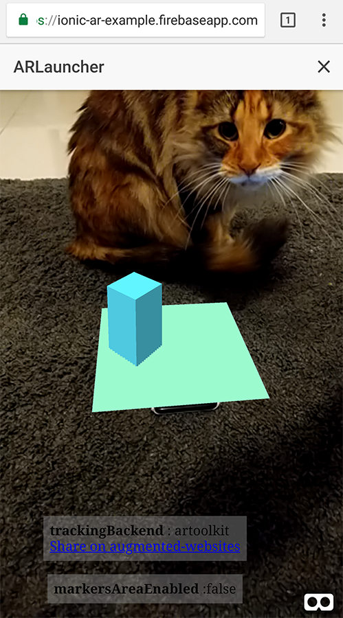 Augmented Reality in an Ionic & Angular PWA