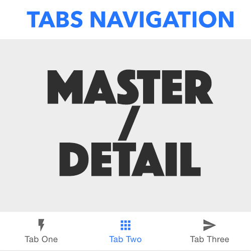 Master/Detail Navigation Within a Tabs Layout in Ionic