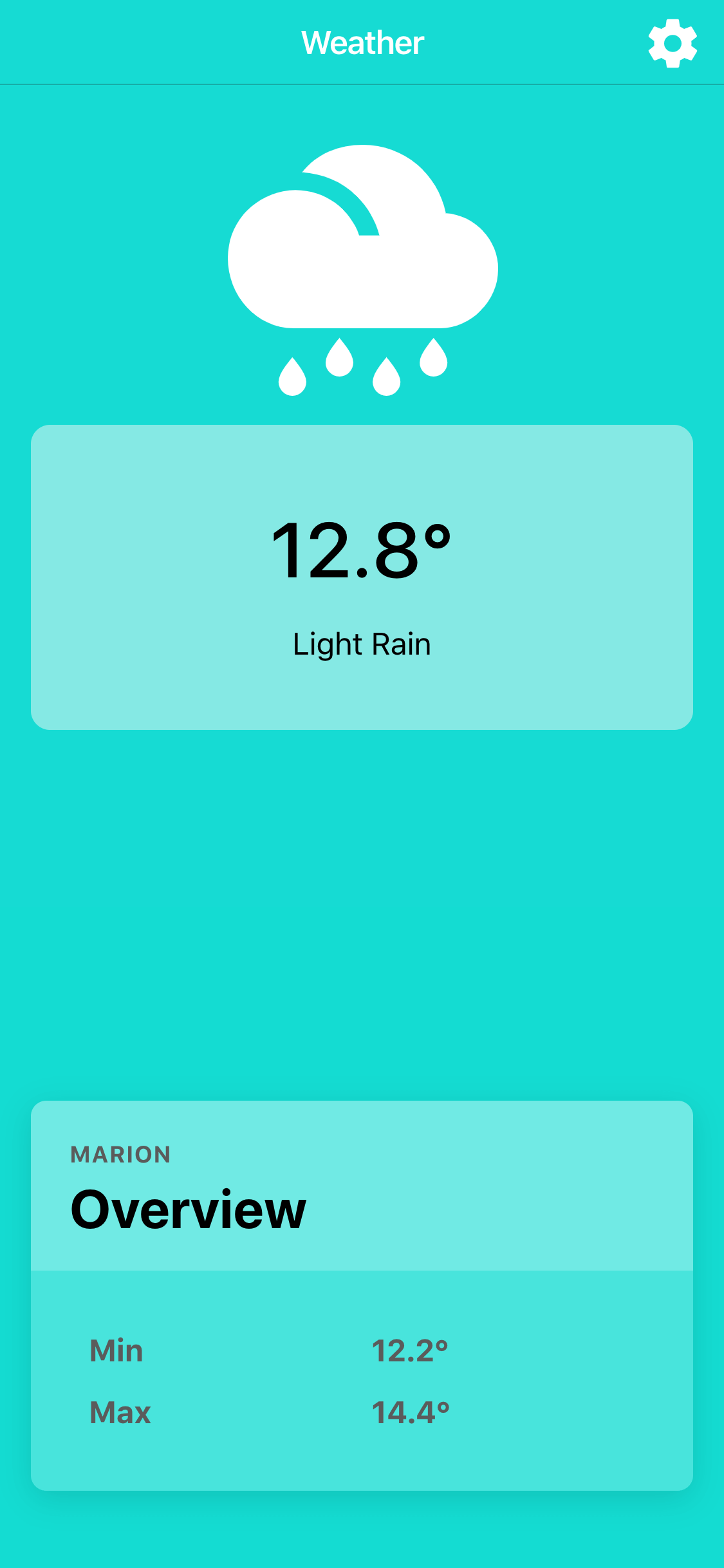 Weather Application built with Ionic and Stencil